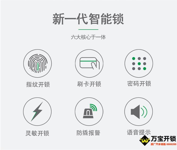 基信指纹锁E6008 家用指纹密码智能电子锁磁卡感应刷卡 防盗门锁大门锁(图5)
